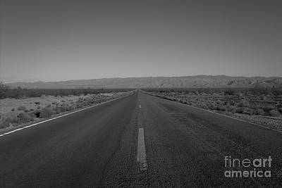 Photograph - Endless Road Bw  by Michael Ver Sprill