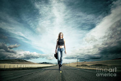 Photograph - Endless Road To Happiness by Evelina Kremsdorf