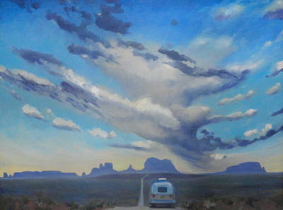 Airstream Painting - Endless Sky by Elizabeth Jose