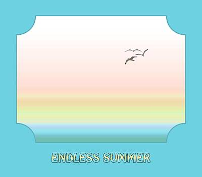 Photograph - Endless Summer - Blue by Gill Billington
