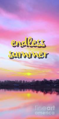 Mixed Media - Endless Summer Design by Edward Fielding