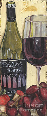 Pinot Noir Painting - Endless Vine Panel by Debbie DeWitt