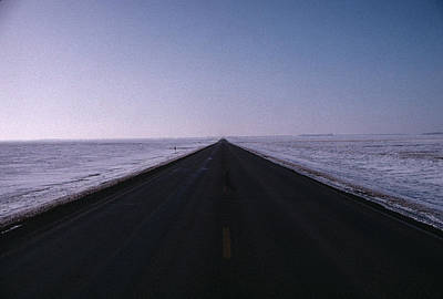 Photograph - Endless Winter Road by William Kimble