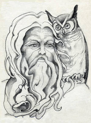 Drawing - Endor The Wizard by Patricia Howitt