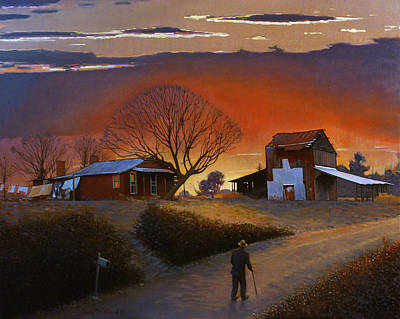 Farm Scene Painting - Endurance by Doug Strickland
