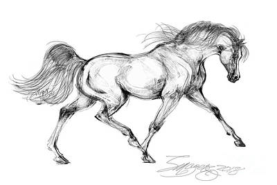 Digital Art - Endurance Horse by Stacey Mayer