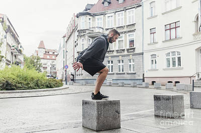 Photograph - Endurance Training In An Urban Space. by Michal Bednarek
