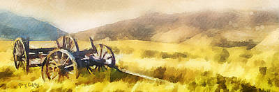 Pioneer Painting - Enduring Courage - Panoramic by Greg Collins