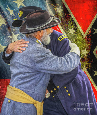 Digital Art - Enemies No Longer Grant And Lee Ver Two by Randy Steele