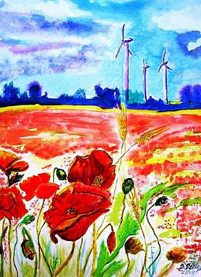 Energie Art Print by Birgit Schlegel
