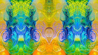 Painting - Energizing Realities Abstract Design Artwork By Omaste Witkowski by Omaste Witkowski