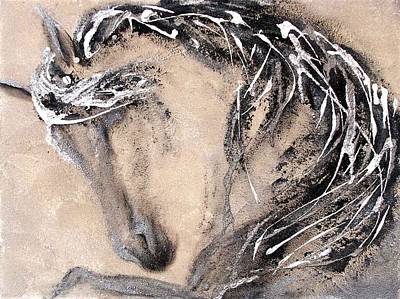 Arabian Horses Mixed Media - Energy by Gabrielle England