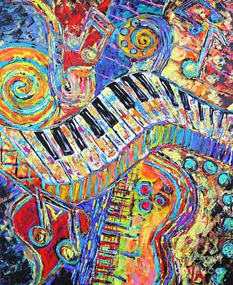 Painting - Energy In Music by Jeremy Aiyadurai