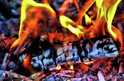 Fire Pit Photograph - Energy by Joetta West