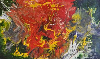 Energy Of Creation Art Print by Georgeta  Blanaru