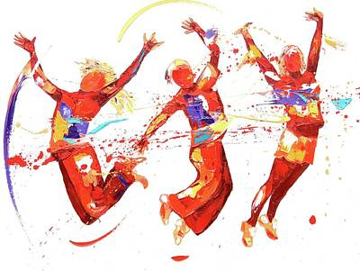 Exuberance Painting - Energy by Penny Warden