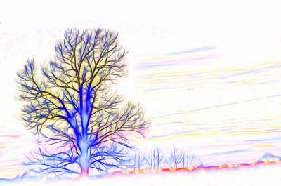 Digital Art - Energy Tree by Beth Sawickie