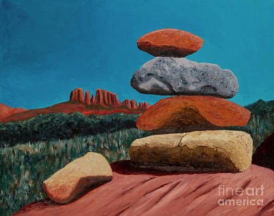 Cathedral Rock Painting - Energy Vortex Sedona by Garry McMichael