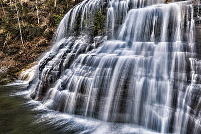 Finger Lakes Photograph - Lower Falls #4 by Stephen Stookey