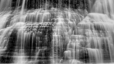 Black Is Beautiful Wall Art - Photograph - Lower Falls Cascade #2 by Stephen Stookey