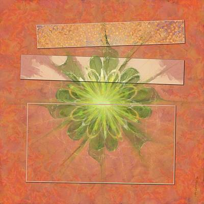 Light Goldenrod Painting - Enfiled Proportion Flower  Id 16164-040206-65351 by S Lurk