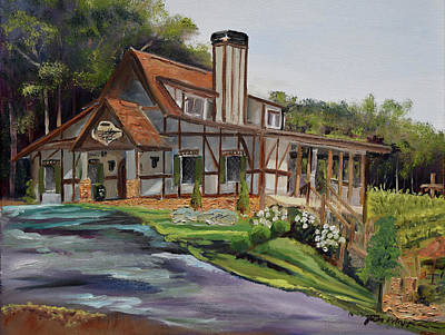 Painting - Engelheim In The Morning - Vineyard - Ellijay, Ga by Jan Dappen