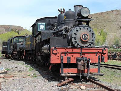Colorado Railroad Museum Photograph - Engine 12 by Lorraine Baum