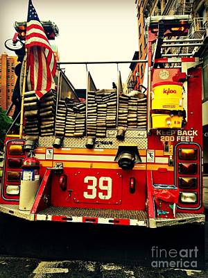 Photograph - Engine 39 - New York City Fire Truck by Miriam Danar