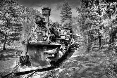 Photograph - Engine 486 No.2 Black And White by TL  Mair