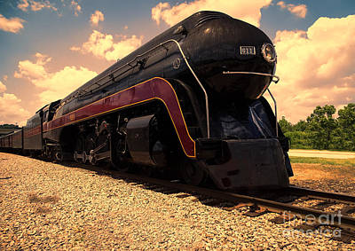 Engine #611 In Ole Town Petersburg Virginia Art Print