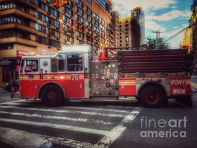 Photograph - Engine 76 - Upper West Side New York by Miriam Danar