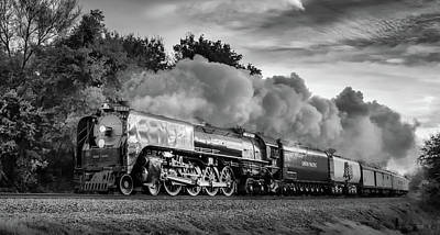 Photograph - Engine 844 In Black And White by James Barber