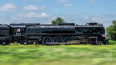 Union Pacific 844 Photograph - Engine #844 In Motion by Nathan Gingles