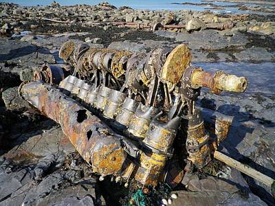 Photograph - Engine At Wreck Site Of E Boat S89 by Richard Brookes
