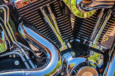 Photograph - Engine Chrome by Samuel M Purvis III