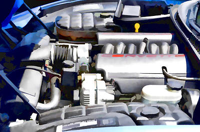 Combustion Painting - Engine Compartment 1 by Lanjee Chee