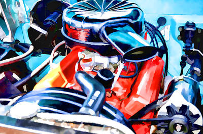 Combustion Painting - Engine Compartment 6 by Lanjee Chee
