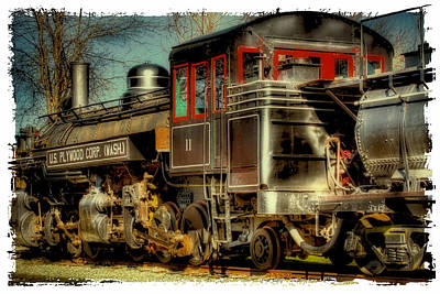 Photograph - Engine Number 11 - U.s. Plywood Corp by David Patterson