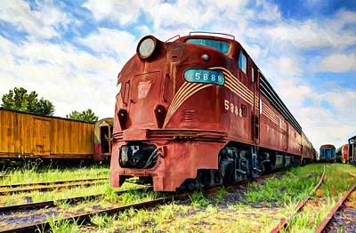 Photograph - Engine Number 5888 by Mel Steinhauer
