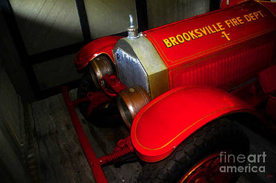 Fire Department Painting - Engine Number One by David Lee Thompson
