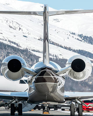 Transport Photograph - Engine Of A Bizjet by Roberto Chiartano