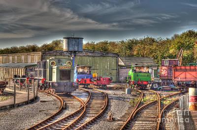 Engine Sheds Quainton Road Buckinghamshire Railway Art Print by Chris Thaxter