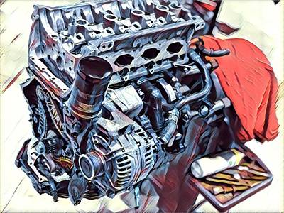 Digital Art - Engine  by Shehan Wicks