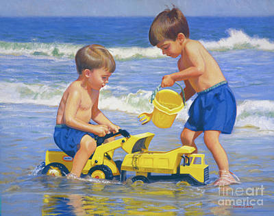 Painting - Engineering The Beach by Candace Lovely