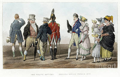 Drawing - England And France, C1814.  by Granger
