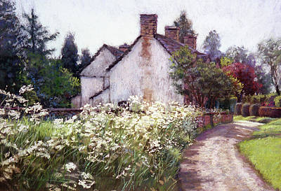 Painting - England Cottage by L Diane Johnson