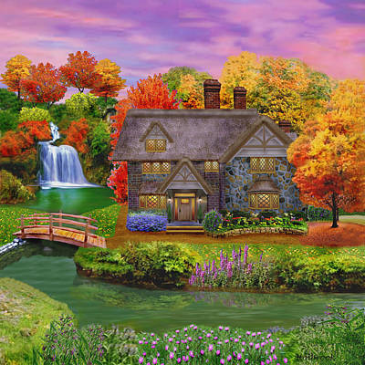 Image result for autumn thatched house