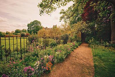 Garden Flowers Photograph - England - Country Garden And Flowers by Vivienne Gucwa