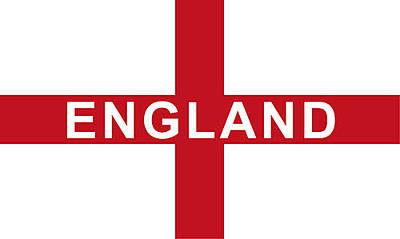 Digital Art - England Flag by JLowPhotos