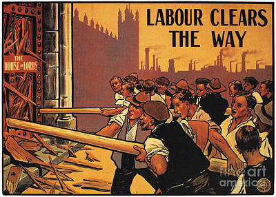 Photograph - England: Labour Poster by Granger
